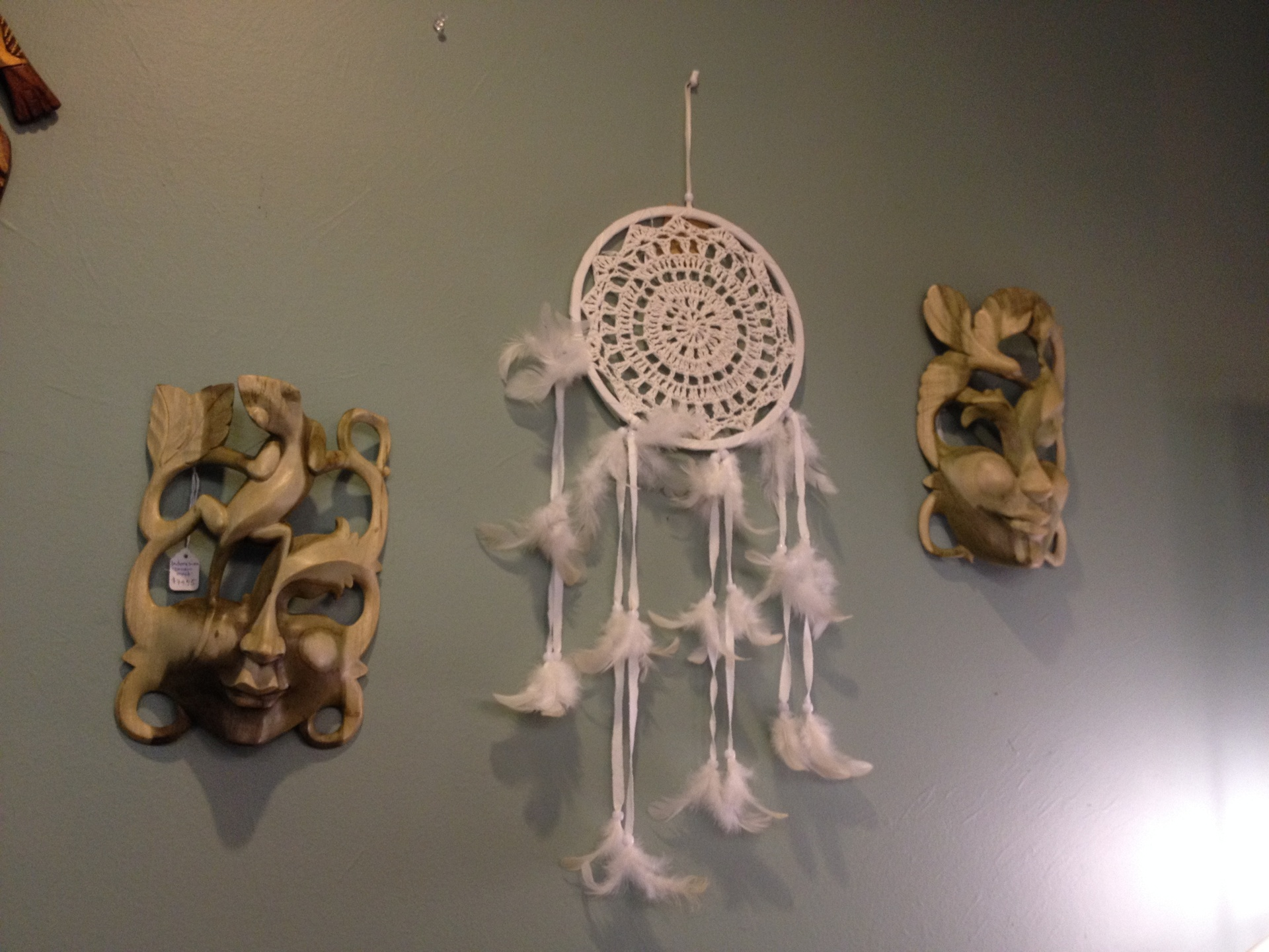 Dream Masks and Lace dreamcatcher from Bali